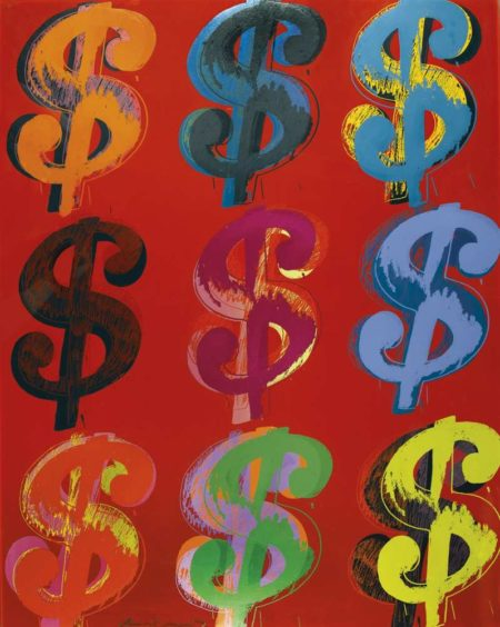 Andy Warhol-$ (9)-1982