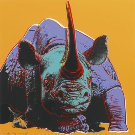 Andy Warhol-Black Rhino-1983