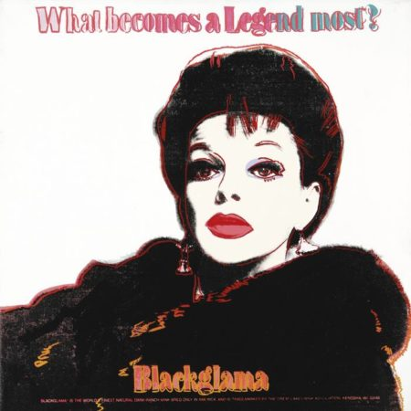 Andy Warhol-Blackglama (Judy Garland) (From Ads)-1985