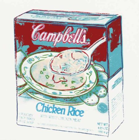 Andy Warhol-Campbell'S Soup Box: Chicken Rice-1986