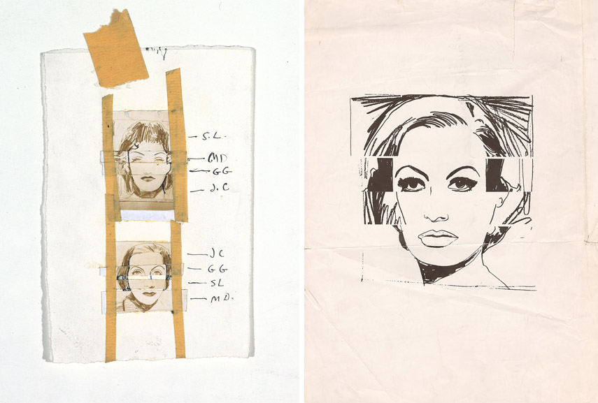 Andy Warhol, Female Movie Star Composite, ca. 1962