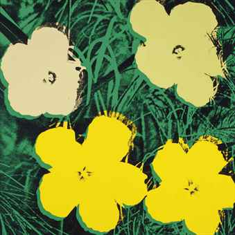 Andy Warhol-Flowers: one plate-1970