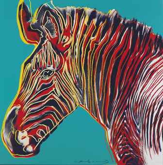 Andy Warhol-Grevy's Zebra, from Endangered Species-1983