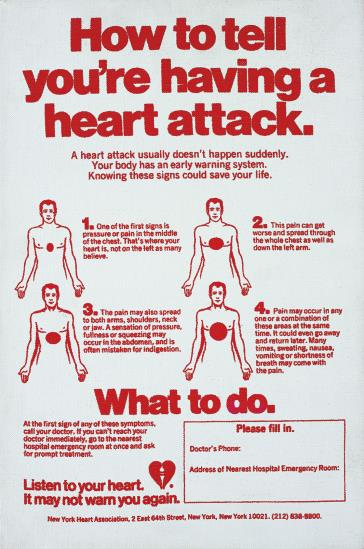 Andy Warhol-How to Tell You're Having a Heart Attack-1983