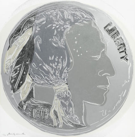 Andy Warhol-Indian Head Nickel from Cowboys and Indians-1986