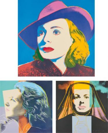 Andy Warhol-Ingrid Bergman: Herself, The Nun, And With Hat (F. & S. II.313-315)-1983