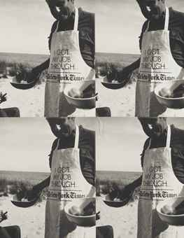 Man in New York Times Apron-1977