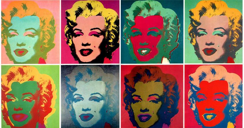 Andy Warhol - Marilyn Monroe, 1967 - Image via Riwow.com