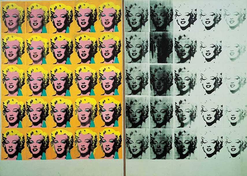 Andy Warhol - Marylin Diptych, 1962 - image via tateorg