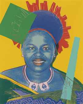 Andy Warhol-Queen Ntombi Twala of Swaziland, from Reigning Queens (Royal Edition)-1985