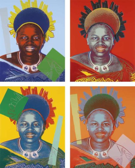 Andy Warhol-Reigning Queens (Royal Edition): Queen Ntombi Twala Of Swaziland-1985