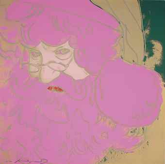 Andy Warhol-Santa Claus, from Myths-1981