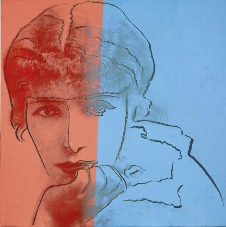 Andy Warhol-Sarah Bernhardt (From Ten Portraits Of Jews Of The Twentieth Century)-1980