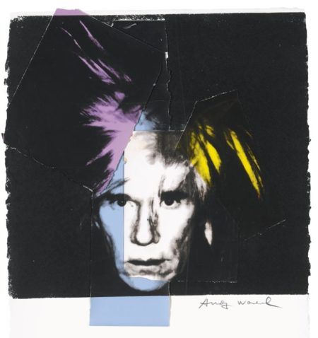 Andy Warhol-Self Portrait In Fright Wig-1986