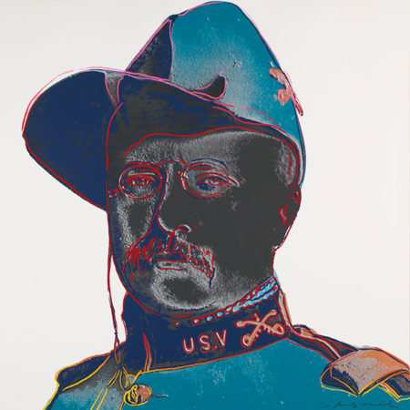 Andy Warhol-Teddy Roosevelt, from Cowboys and Indians-1986
