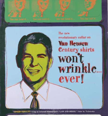 Andy Warhol-Van Heusen (Ronald Reagan) (From Ads)-1985