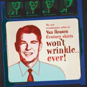 Andy Warhol-Van Heusen (Ronald Reagan), from Ads-1985