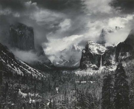 Ansel Adams-Clearing Winter Storm Yosemite National Park-1944
