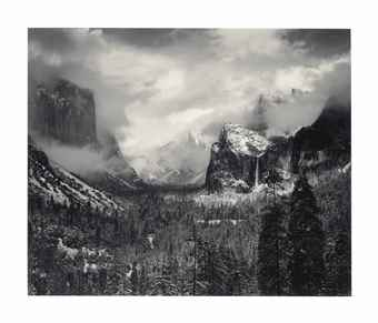 Ansel Adams-Clearing Winter Storm, Yosemite National Park-1940