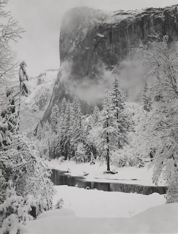 Ansel Adams-El Capitan, Winter, Yosemite National Park, California-1948