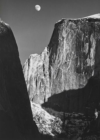 Moon and Half Dome, Yosemite National Park, California-1960