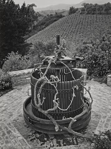 Ansel Adams-Old Wine Press, Paul Masson Winery-1963