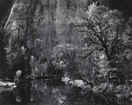 Ansel Adams-River Cliffs Autumn Yosemite Valley-1939