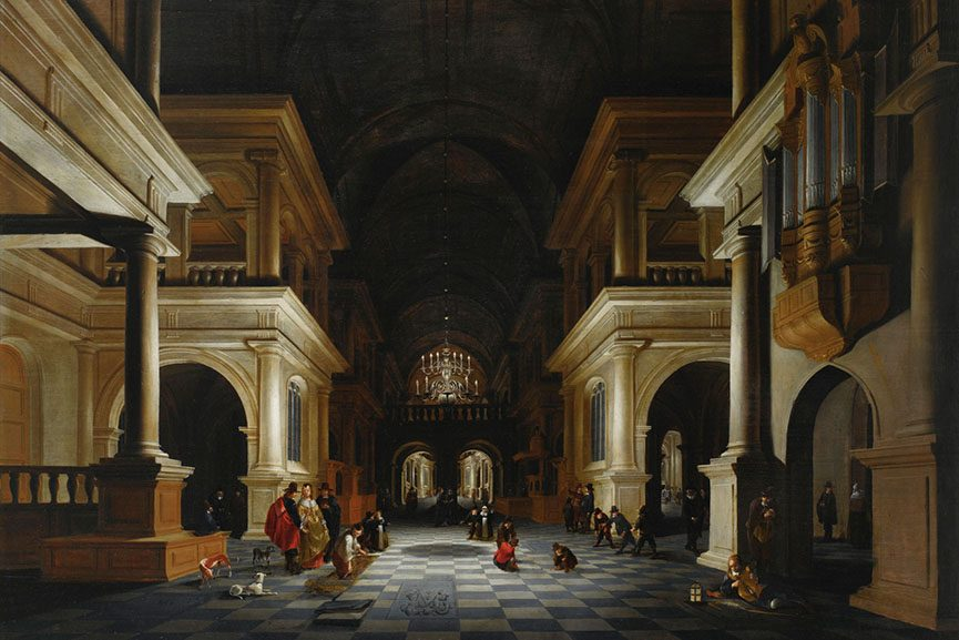 Anthonie de Lorme, The Interior of a Renaissance-Style Church