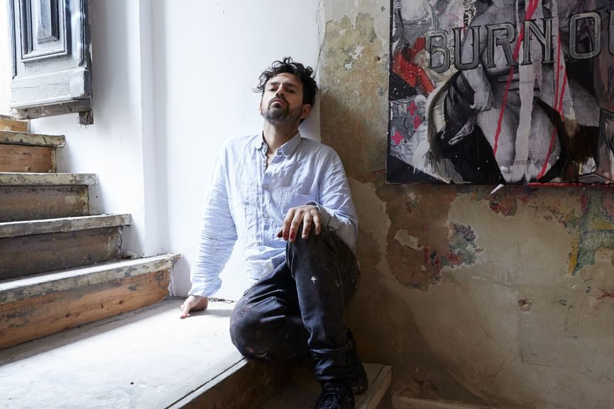 Anton Unai in his studio