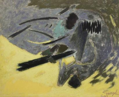 Antonio Guanse-Abstract Composition-1960