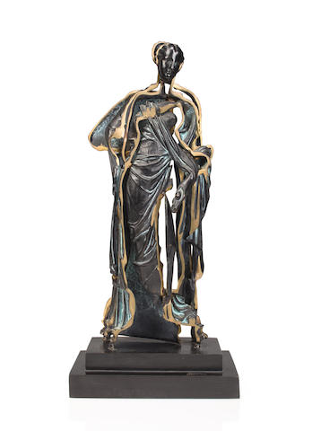 Arman-Standing bronze figure (Spliced Venus)-1990