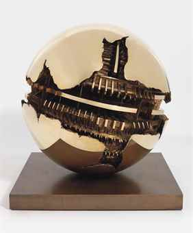 Arnaldo Pomodoro-Sfera (Sphere)-1990