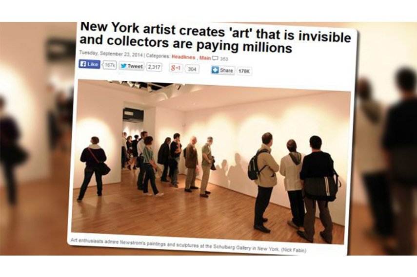 Article reporting on the invisible art fetching millions video business search