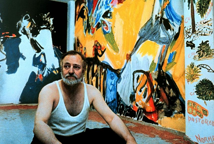 Asger Jorn - Photo of the artist in a studio - Image via pinimgcom