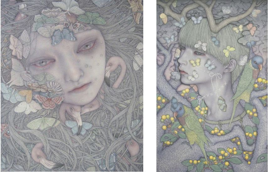 Atsuko Goto - Cannivalism, (Left) ---- Dreaming Monster Ⅳ, (Right)