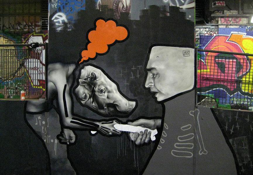 Street art duos