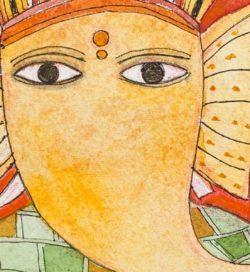 Badri Narayan - Shri Ganeshji with Tatooed Hands (Detail) - Courtesy of Artiana