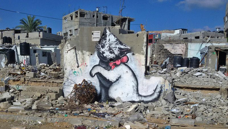 Banksy – Kitten, Gaza, 2015 - home - contact modern