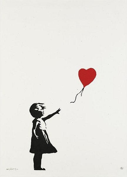 Banksy-Girl and Balloon-2004