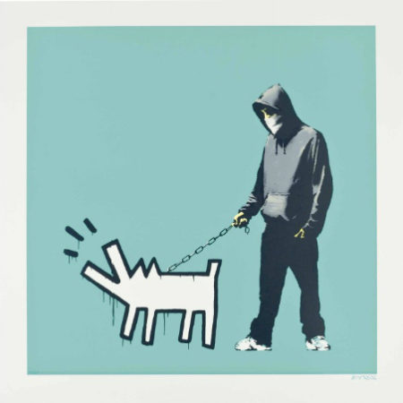 Banksy-Choose Your Weapon (Turquoise)-2010