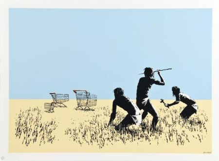 Banksy-Colour Trolleys-2007