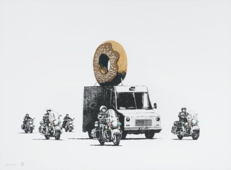 Banksy-Donuts (Chocolate)-2009