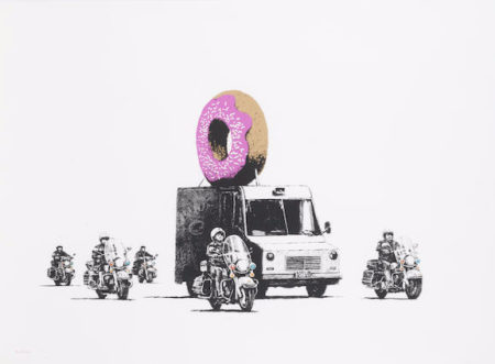 Banksy-Donuts (Strawberry)-2009