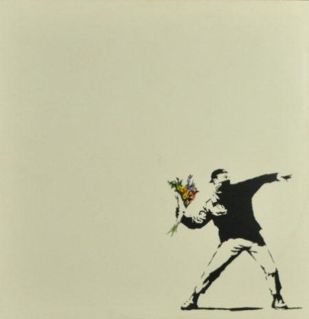 Banksy-Flower Thrower-
