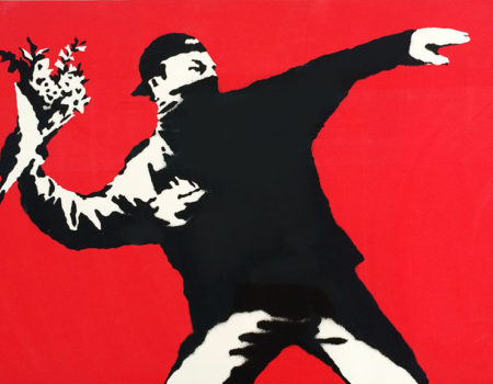 Banksy's Booth at Galerie Kronsbein - Not to Miss at ART.FAIR Cologne!