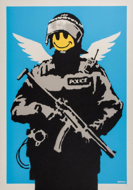 Banksy-Flying Copper-2004