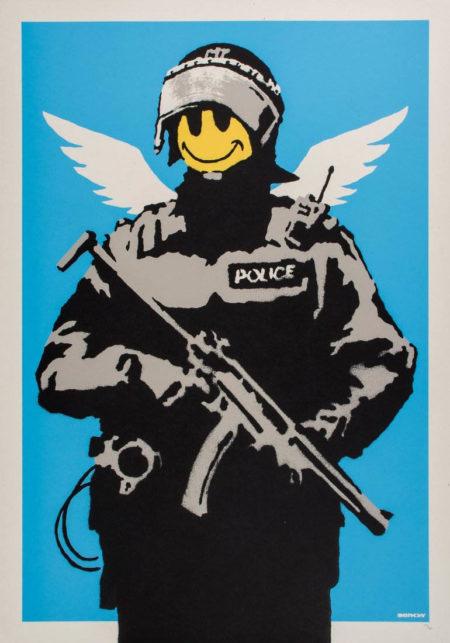 Banksy-Flying Copper-2004