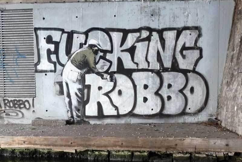 Banksy - Fucking Robbo 2010, Camden, London