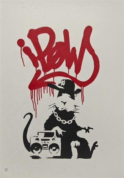 Banksy-Gangsta Rat (Unsigned)-2004