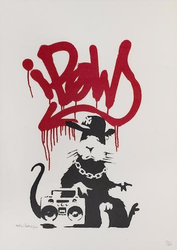 Banksy-Gangsta Rat (Signed)-2004